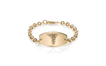Gold Prestige Medical Bracelet