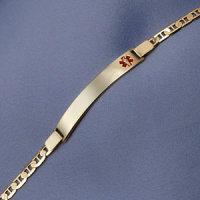 14k Gold Medical ID Bracelet